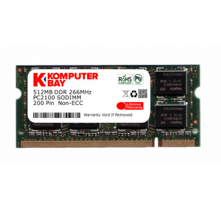 Komputerbay 512MB DDR SODIMM (200 pin) 266Mhz DDR266 PC2100 FOR WinBook C240 512 MB