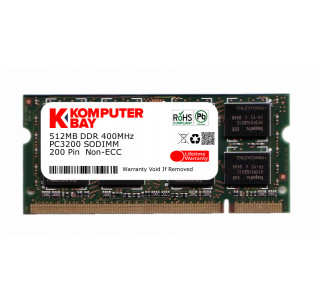 Komputerbay 512MB DDR SODIMM (200 Pin) 400Mhz DDR400 PC3200 CL 3.0 512 MB for HP Dell Sony Compaq