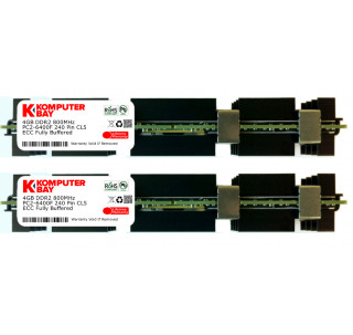 KOMPUTERBAY 8GB (2X4GB) MEMORY for APPLE MAC PRO EARLY 2008 3,1 DDR2 800MHz PC2-6400 FB-DIMM WITH APPLE HEAT SHIELDS 976609A