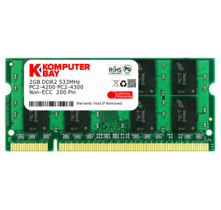 Komputerbay 2GB DDR2 533MHz PC2-4200 PC2-4300 DDR2 533 (200 PIN) SODIMM Laptop Memory