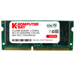 Komputerbay 512MB SDRAM SODIMM (144 Pin) LD 133Mhz PC133 FOR Apple Mac Memory iMac Flat Panel 800 (M9105LL/A) 512MB