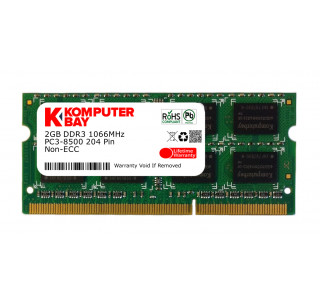 Komputerbay 2GB DDR3 SODIMM (204 pin) 1066Mhz PC3 8500 (7-7-7-20)