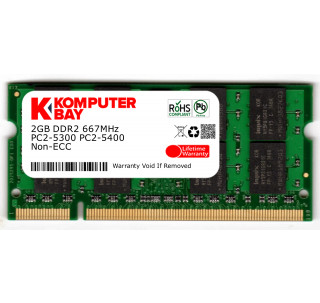 Komputerbay 2GB (1X 2GB) DDR2 667MHz PC2-5300 PC2-5400 (200 PIN) SODIMM Laptop Memory with Hynix Chips