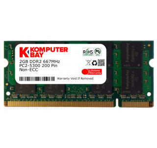 Komputerbay 2GB DDR2 SODIMM (200 pin) 667Mhz PC2 5400 / PC2 5300 FOR Gateway 2 GB