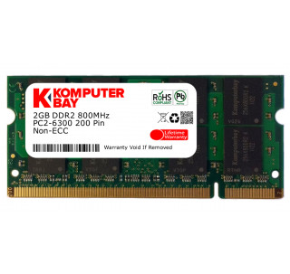Komputerbay 2GB DDR2 800MHz PC2-6300 PC2-6400 DDR2 800 (200 PIN) SODIMM Laptop Memory