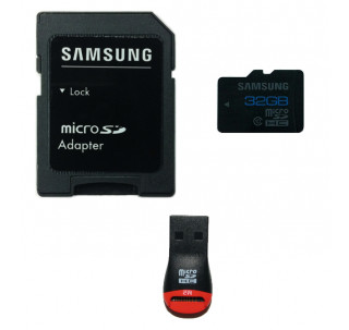 Samsung 32GB Class 10 MicroSDHC Ultra High Speed Memory Card 75MB/s Read 20MB/s Write with Komputerbay SD Adapter and MobileMate USB Reader - Frustration Free Bulk Packaging