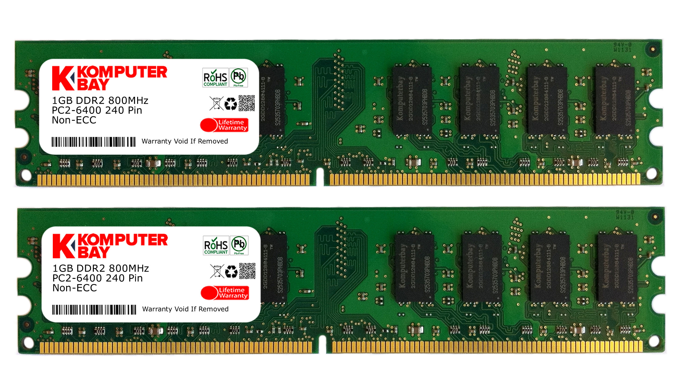 Komputerbay 2gb 2x 1gb Ddr2 800mhz Pc2 6300 6400 800 240 Ram Memori Pake Hedsink Close