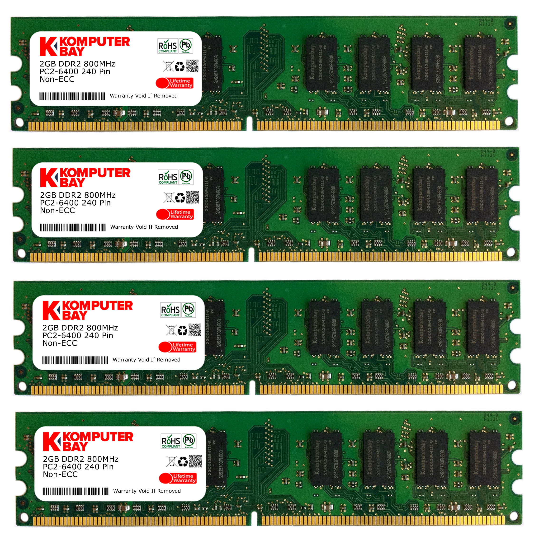 Komputerbay 8gb 4 X 2gb Ddr2 Dimm 240 Pin Am2 800mhz Pc2 6400 Ram Pc6400 4gb For Amd System Only Close