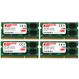 Komputerbay 16GB (4x 4GB) DDR3 SODIMM (204 pin) made with Major semiconductors 1333Mhz PC3 10600 for Apple (9-9-9-25) 16 GB