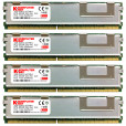 Komputerbay 8GB (4x 2GB) DDR2 PC2-5300F 667MHz CL5 ECC Fully Buffered 2Rx4 FB-DIMM (240 PIN) w/ Heatspreaders