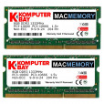 Komputerbay MACMEMORY 16GB (2x 8GB) PC3-10600 10666 1333MHz SODIMM 204-Pin Laptop Memory 9-9-9-24 for Apple Mac
