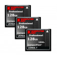 KOMPUTERBAY 3-PACK 128GB Professional COMPACT FLASH CARD CF 1050X WRITE 100MB/S READ 160MB/S Extreme Speed UDMA 7 RAW 128 GB