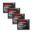 KOMPUTERBAY 4-PACK - 128GB Professional COMPACT FLASH CARD CF 800X 120MB/s Extreme Speed UDMA 7 RAW 128 GB