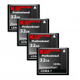 KOMPUTERBAY 4-PACK - 32GB Professional COMPACT FLASH CARD CF 1000X 150MB/s Extreme Speed UDMA 7 RAW 32 GB