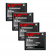 KOMPUTERBAY 4-PACK 32GB Professional COMPACT FLASH CARD CF 1050X WRITE 100MB/S READ 160MB/S Extreme Speed UDMA 7 RAW 32 GB