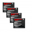 KOMPUTERBAY 4-PACK 64GB Professional COMPACT FLASH CARD CF 1050X WRITE 100MB/S READ 160MB/S Extreme Speed UDMA 7 RAW 64 GB