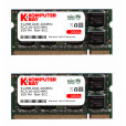 KOMPUTERBAY 1GB ( 512MB X 2 ) DDR SODIMM (200 pin) 266Mhz DDR266 PC2100 LAPTOP MEMORY