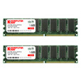 Komputerbay 1GB ( 2 x 512MB ) DDR DIMM (184 pin) 400Mhz PC 3200 Low Density 1 GB KIT