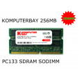 KOMPUTERBAY 256MB SDRAM SODIMM (144 Pin) 133Mhz PC133 RAM for Brother printers