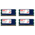 Komputerbay 32GB (4x 8GB) DDR3 PC3-12800 1600MHz SODIMM 204-Pin Laptop Memory 9-9-9-25 with Blue Heatspreaders