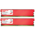 Komputerbay 4GB (2 X 2GB) DDR2 DIMM (240 pin) 800MHZ PC2-6400 PC2-6300 Desktop RAM with Red Heatspreaderss for extra Cooling CL 5-5-5-18