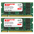 Komputerbay 4GB (2X 2GB) DDR2 800MHz PC2-6300 PC2-6400 (200 PIN) SODIMM Laptop Memory with Hynix Chips