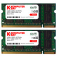 Komputerbay 8GB 2x 4GB DDR2 667 MHz PC2 5300 5400 SODIMM CL5 200pin 1.8v for Sony Laptops