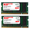Komputerbay 4GB (2 X 2GB) DDR2 SODIMM (200 pin) 800Mhz PC2 6400 / PC2 6300 FOR Dell HP 4 GB KIT