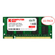 Komputerbay 10-PACK - 1GB DDR2 PC-5300/PC-5400 667MHz 200 Pin SODIMM Laptop Memory with Samsung semiconductors
