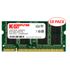 10-Pack Komputerbay 1GB DDR PC2100 266MHz SODIMM laptop memory
