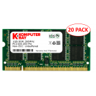 20-Pack Komputerbay 1GB DDR PC2100 266MHz SODIMM laptop memory