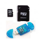 Komputerbay 32GB MicroSD SDHC Microsdhc Class 4 with Micro SD Adapter and Blue USB SD Reader