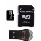 Komputerbay 16GB Class 10 MicroSDHC High Speed Card with SD Adapter and SanDisk MobileMate USB Reader