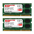 Komputerbay 8GB (2x 4GB) DDR3 SODIMM (204 pin) 1333Mhz PC3 10600 8 GB Laptop Memory- (Not for Mac)