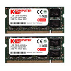 KOMPUTERBAY 2GB (2x1GB) DDR SODIMM (200 pin) 400Mhz DDR400 PC3200 LAPTOP MEMORY