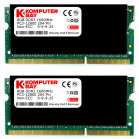 Komputerbay 16GB (2x 8GB) DDR3 PC3-12800 1600MHz SODIMM 204-Pin Laptop Memory 9-9-9-25 with Black Heatspreaders