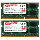 Komputerbay 16GB (2x 8GB) DDR3 PC3-12800 1600MHz SODIMM 204-Pin Laptop Memory 10-10-10-27