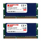 Komputerbay 16GB (2x 8GB) DDR3 PC3-12800 1600MHz SODIMM 204-Pin Laptop Memory 11-11-11-28 with Blue Heatspreaders