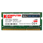 Komputerbay MACMEMORY 8GB PC3-12800 1600MHz SODIMM 204-Pin Laptop Memory 10-10-10-27 Single 8GB Stick for Apple Mac