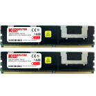 Komputerbay 4GB (2x 2GB) DDR2 PC2-6400F 800MHz CL5 ECC Fully Buffered 2Rx4 FB-DIMM (240 PIN) w/ Heatspreaders