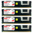 KOMPUTERBAY 16GB 4X4GB DDR2 667MHz PC2-5300 ECC FB Quad Rank 4Rx8 FULLY BUFFERED MEMORY RAM
