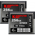 Komputerbay 2-Pack Professional 3700x 256GB CFast 2.0 Card (Up to 560MB/s Read and up to 495 MB/s Write)