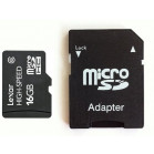 Lexar 16GB Mobile MicroSDHC Card Class 6 High-Speed Micro SDHC Upto 10MB / s Write and upto 18MB / s Read with free SD adaptor