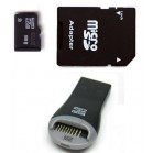 Komputerbay 8GB MicroSD SDHC Class 2 with SD Adapter and USB Reader