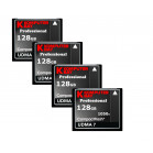 KOMPUTERBAY 4-PACK 128GB Professional COMPACT FLASH CARD CF 1050X WRITE 100MB/S READ 160MB/S Extreme Speed UDMA 7 RAW 128 GB