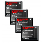 KOMPUTERBAY 4-PACK - 32GB Professional COMPACT FLASH CARD CF 600X 90MB/s Extreme Speed UDMA 6 RAW 32 GB