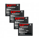 KOMPUTERBAY 4-PACK - 64GB Professional COMPACT FLASH CARD CF 600X 90MB/s Extreme Speed UDMA 6 RAW 64 GB