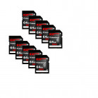 Komputerbay 10-PACK - 64GB SDXC Secure Digital Extended Capacity Speed Class 10 600X UHS-I Ultra High Speed Flash Memory Card 40MB/s Write 90MB/s Read 64 GB