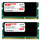 Komputerbay 16GB (2x 8GB) DDR3 PC3-12800 1600MHz SODIMM 204-Pin Laptop Memory 10-10-10-27 with Black Heatspreaders