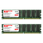 Komputerbay 1GB 2x 512MB DDR PC3200 400Mhz 184 Pin DIMM 1 GB KIT